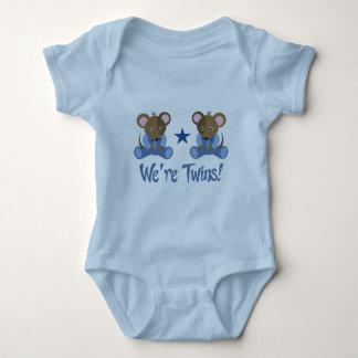 Cute Twin Boy Mice Gift Baby Bodysuit