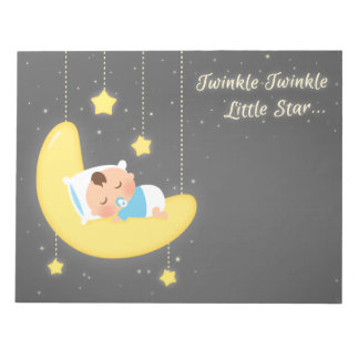 Cute Twinkle Twinkle Little Star Baby Boy Notepad