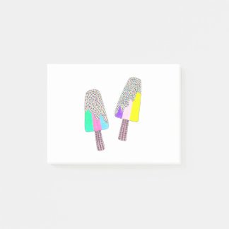 Cute Two Colorful Popsicles Post-it Notes