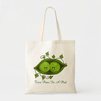 Cute Two Peas In A Pod Budget Tote Bag