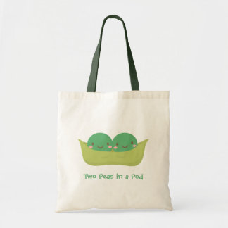 Cute Two Peas in a Pod For Mommy Budget Tote Bag