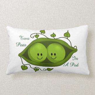 Cute Two Peas In A Pod Lumbar Cushion