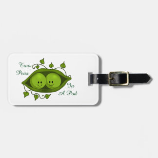 Cute Two Peas In A Pod personalized Luggage Tag