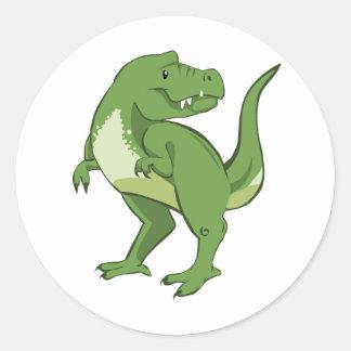 Cute Tyrannosaurus Rex Classic Round Sticker