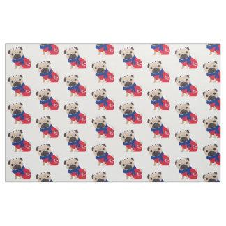 Cute UK Pugs Fabric