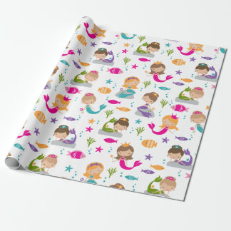Cute Under the Sea Mermaid Wrapping Paper