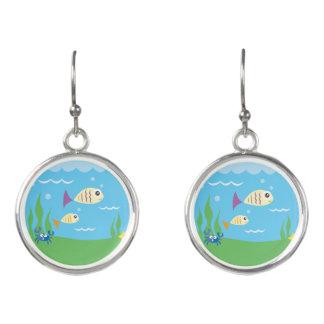 Cute Underwater Ocean Sea Aquarium Earrings