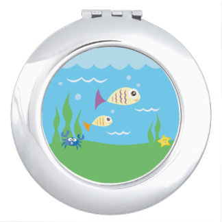 Cute Underwater Ocean Sea Aquarium Makeup Mirrors
