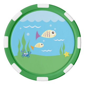 Cute Underwater Ocean Sea Aquarium Poker Chips