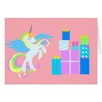 Cute UNICORN Birthday Card for girls