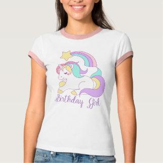 Cute Unicorn Birthday Girl Trendy Typography Art T-Shirt
