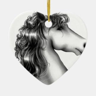 cute unicorn ceramic ornament