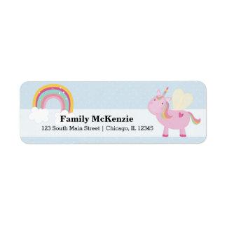 Cute Unicorn * CHOOSE your background colour Return Address Label