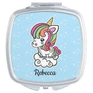 Cute Unicorn compact mirror
