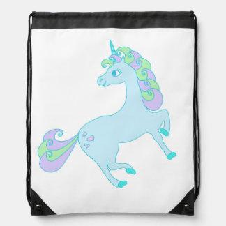 cute unicorn Drawstring Backpack