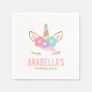 Cute Unicorn Girls Birthday Party Disposable Napkin