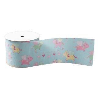 Cute unicorn grosgrain ribbon