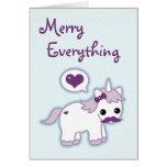 Cute Unicorn Holiday Greeting Card