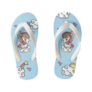 Cute Unicorn kids flip flops