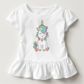 Cute Unicorn Magical Illustration Toddler Shirt