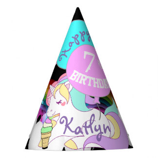Cute Unicorn Party Favour Hat Personalised