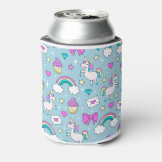 Cute Unicorn Pattern Can Cooler