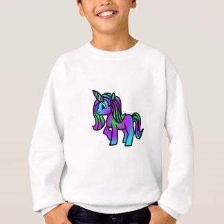 Cute Unicorn Purple Turquoise Green Sweatshirt