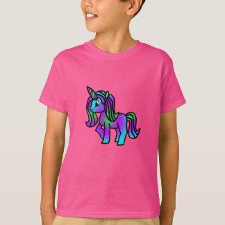 Cute Unicorn Purple Turquoise Green T-Shirt