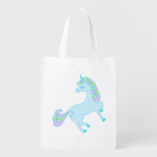 cute unicorn Reusable Grocery Bag