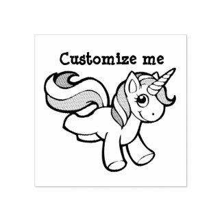 Cute unicorn stamp