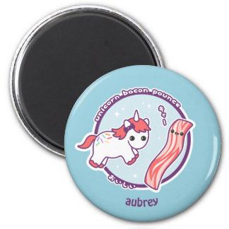 Cute Unicorn with Bacon Magnet