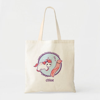 Cute Unicorn with Bacon Tote Bag