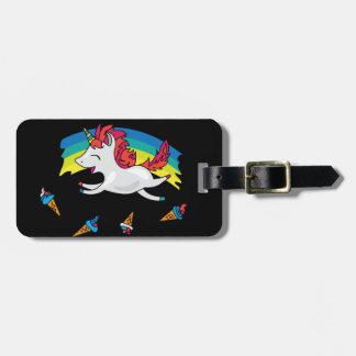 Cute Unicorn with rainbow cool illustration Luggage Tag