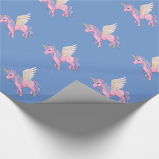 Cute Unicorn with rainbow wings illustration
