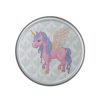 Cute Unicorn with rainbow wings illustration Bluetooth Speaker