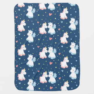 Cute Unicorns in Love Baby Blanket