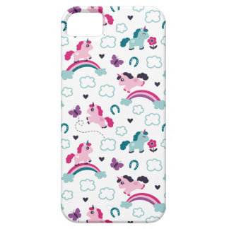 Cute Unicorns Pattern Barely There iPhone 5 Case