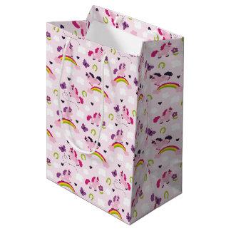 Cute Unicorns Pattern Medium Gift Bag