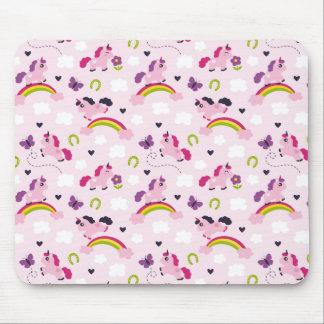 Cute Unicorns Pattern Mouse Pad