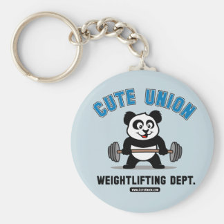 Cute Union Weightlifting Department Keychain