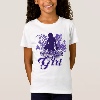 Cute Unique Glamour Girl - Retro Style Fashion Tee