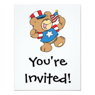 cute USA patriotic teddy bear design Announcement