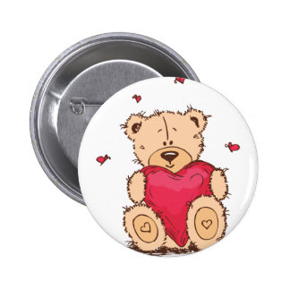 Cute Valentine s Day Teddy Bear Button