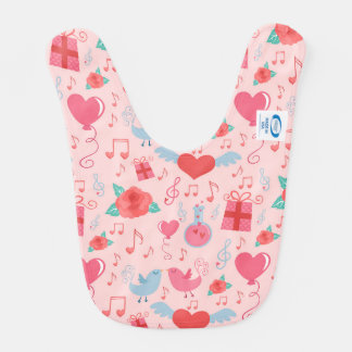 Cute Valentine's Day Background Baby Bib