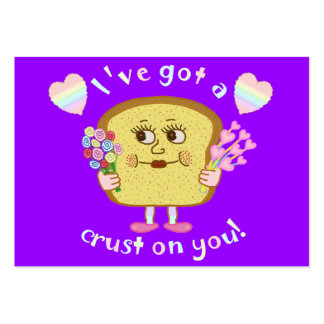 Cute Valentine's Day Bread Pun Kids Classroom Pack Of Chubby Business Cards