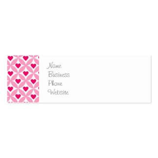 Cute Valentine's Day Bunny Pink Red Hearts Gifts Pack Of Skinny Business Cards