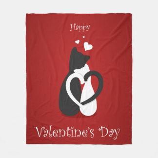 Cute Valentine's Day Cats Love Fleece Blanket