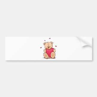 Cute Valentine's Day Teddy Bear Bumper Stickers