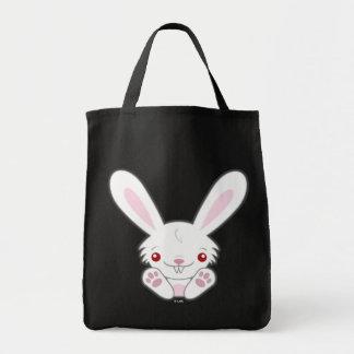 Cute Vampire Bunny Rabbit (White) Kawaii Tote Bag