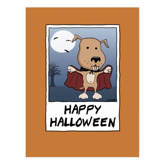 Cute Vampire Dog for Halloween: Count Barkula Postcard